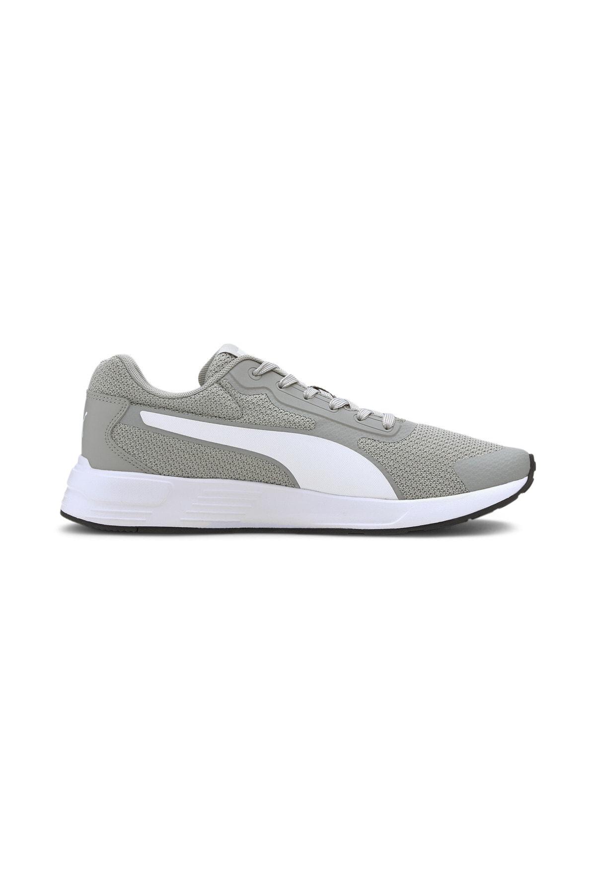 Puma TAPER Gri Erkek Koşu Ayakkabısı 100656439 4