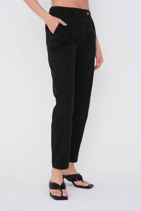 Addax Kadın Siyah Düğme Detaylı Pantolon Pn4191 - Pni ADX-0000021486 1