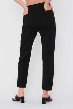 Addax Kadın Siyah Düğme Detaylı Pantolon Pn4191 - Pni ADX-0000021486 4