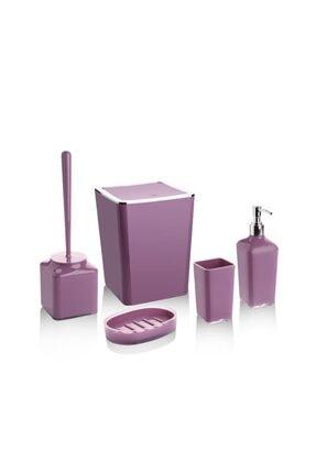 Perotti Mor Lungo Kırılmaz Kovalı Banyo Wc Takımı Set 5 Parça 0