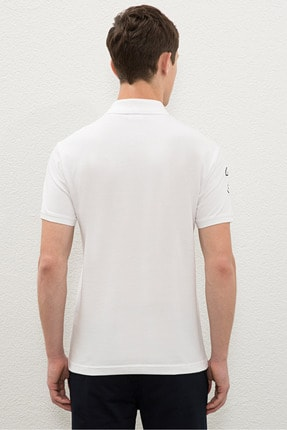 US Polo Assn Beyaz Erkek T-Shirt 2