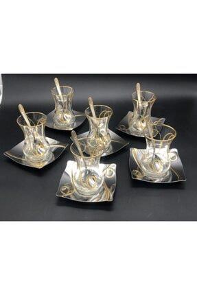 İslamoğlu Çay Sanatı 40 Parça Çay Seti Inna Gold Altın Kaplama 1