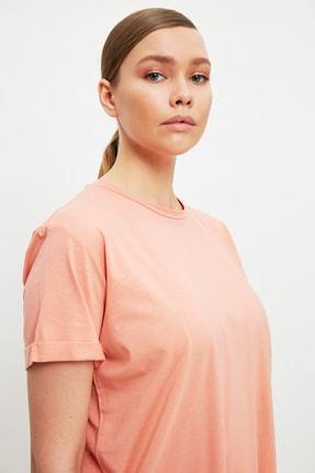 Trendyol Modest Somon Baskılı Tunik T-shirt TCTSS21TN0056 1