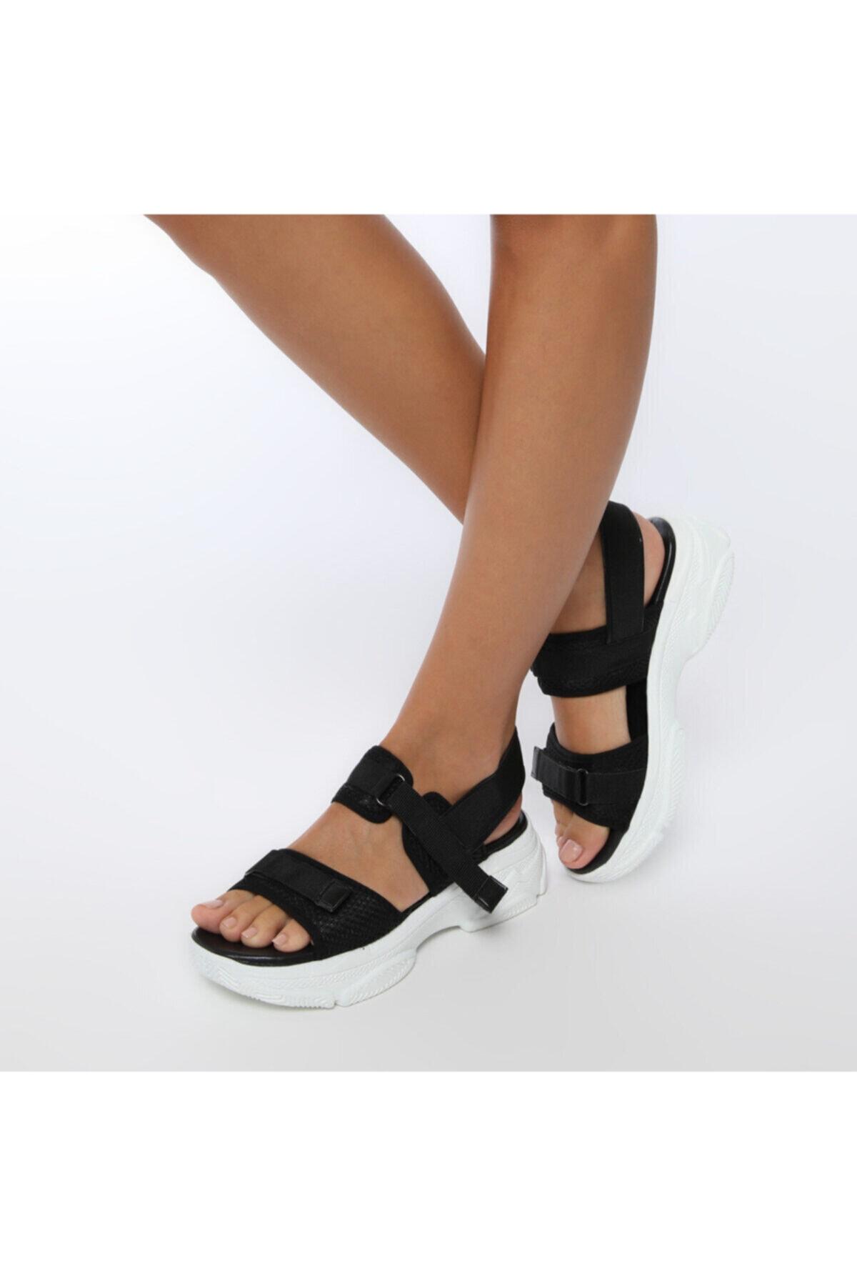 19S-342 Siyah Kadın Sandalet 100383169