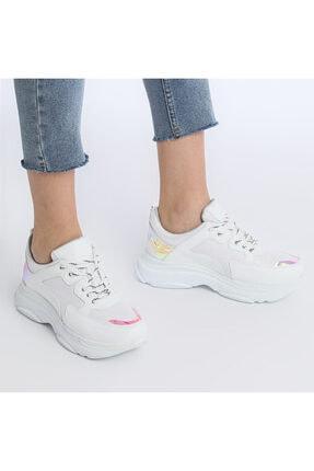 Butigo 19sf-1501-19k Beyaz Kadın Sneaker Ayakkabı 3