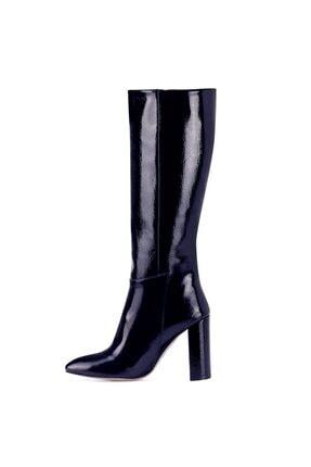 Nine West MIMA Lacivert Kadın Ökçeli Çizme 100582032 3