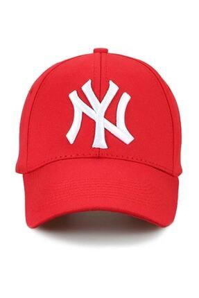NuxFah Ny New York Şapka Unisex Kırmızı Şapka 0