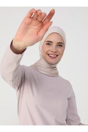 Refka Kadın Derin Pembe Uzun Kollu Pamuk Kumaşlı Basic Tişört 0