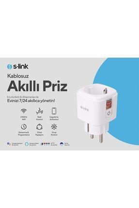 S-Link Swapp SL-01 16 Amper Akıllı Wifi TUYA Google Assistant Alexa Siri Destekli Priz Wifi TUYA 1