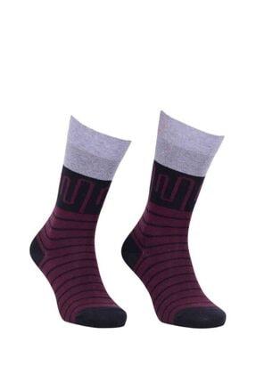 Çizgi Desenli Penye Çorap resmi