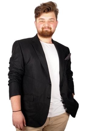 تصویر از Büyük Beden Erkek Ceket Blazer Perfetto Plus 21022 Siyah