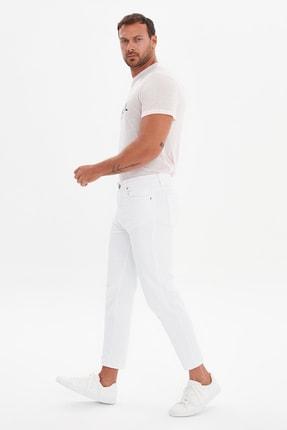 Beyaz Erkek Slim Crop Jeans TMNSS21JE0670 resmi