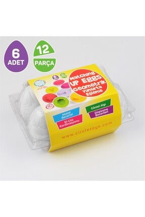 Circle Toys Geometrik Yumurta Eşleme 6'lı Piyatoys 4