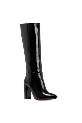 Nine West MIMA Siyah Kadın Ökçeli Çizme 100582033 1