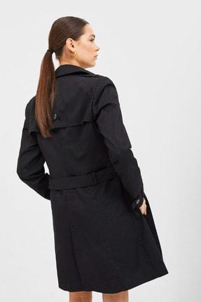 Stradivarius Kadın Siyah Basic Trençkot 05800242 3