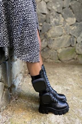 İnan Ayakkabı Bayan Yan Tarafı 2 Adet Cep Detaylı Fermuarlı Çizme 4