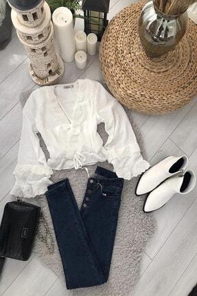 Kadın Beyaz Bluz MDZ22