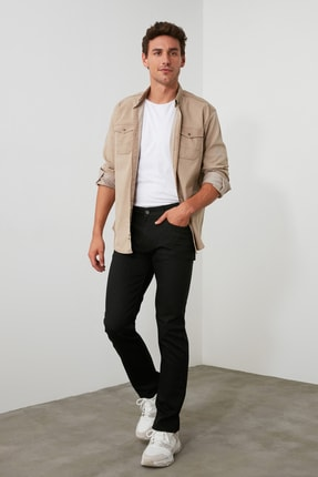 TRENDYOL MAN Siyah Erkek Straight Jeans TMNAW20JE0002 1