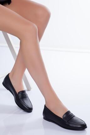 Diego Carlotti Kadın Siyah Hakiki Deri Günlük Babet Ayakkabı 0