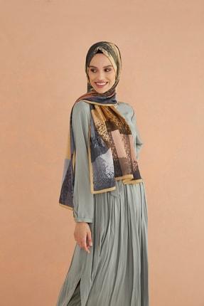 Cardion Kadın Camel Desenli Medine Şal 190x80 cm 0
