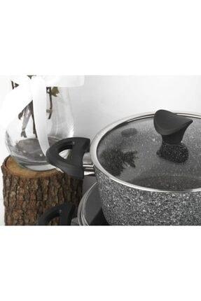 Taç Master Cook 7 Parça Granit Tencere Seti Gri Tac-3454 3