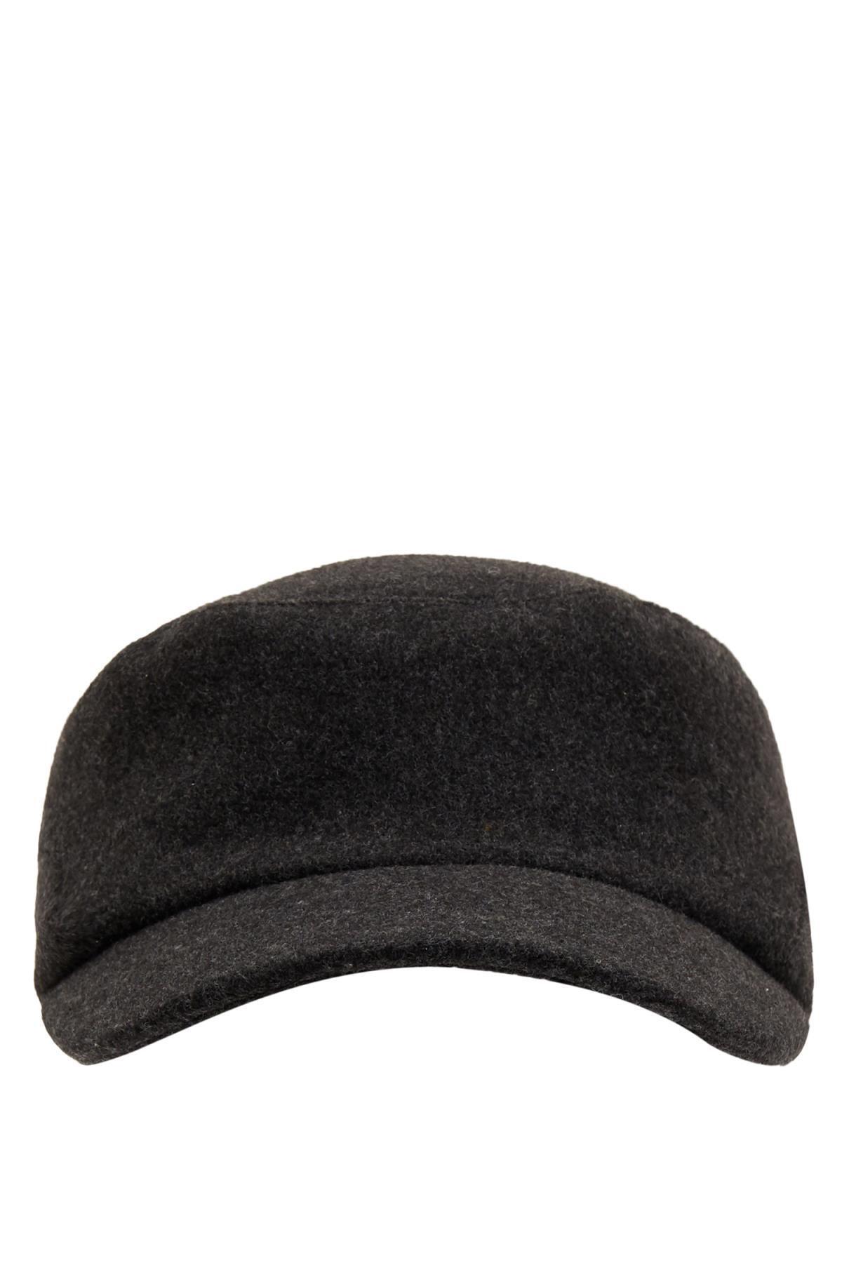 Defacto Erkek Antra Melange Kışlık Şapka L8262AZ20WN 0
