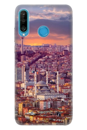 Cekuonline Huawei P30 Lite Tıpalı Kamera Korumalı Silikon Kılıf 0