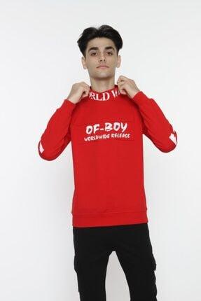 piccolomondokids Erkek Çocuk Kırmızı Balıkçı Yaka Sweatshirt Art007k 0