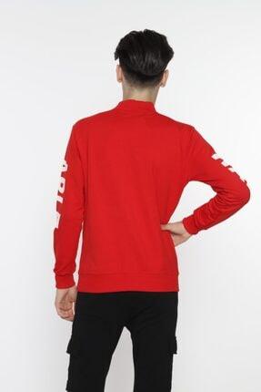 piccolomondokids Erkek Çocuk Kırmızı Balıkçı Yaka Sweatshirt Art007k 3