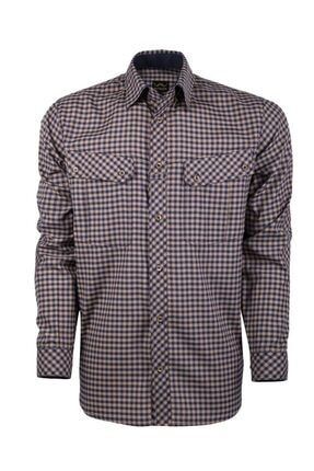 VAV Erkek Lacivert Bej Tactical Ekose Yazlık Gömlek Basetac-01 0