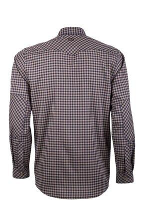 VAV Erkek Lacivert Bej Tactical Ekose Yazlık Gömlek Basetac-01 2