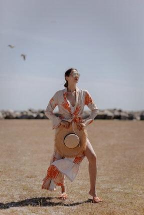 La Fontaine Kadın Desenli Kimono 0