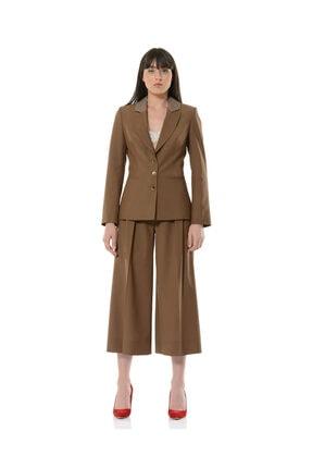 BİRELİN Kadın Kahverengi Terra Ceket 0