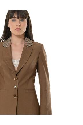 BİRELİN Kadın Kahverengi Terra Ceket 4