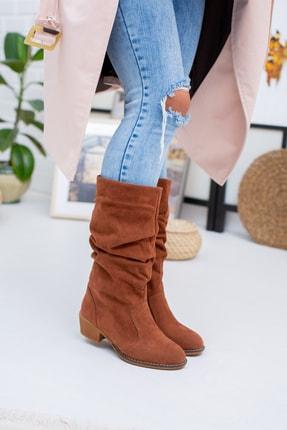 Moda Değirmeni Kadın Taba Süet Çizme Md1016-117-0001 3