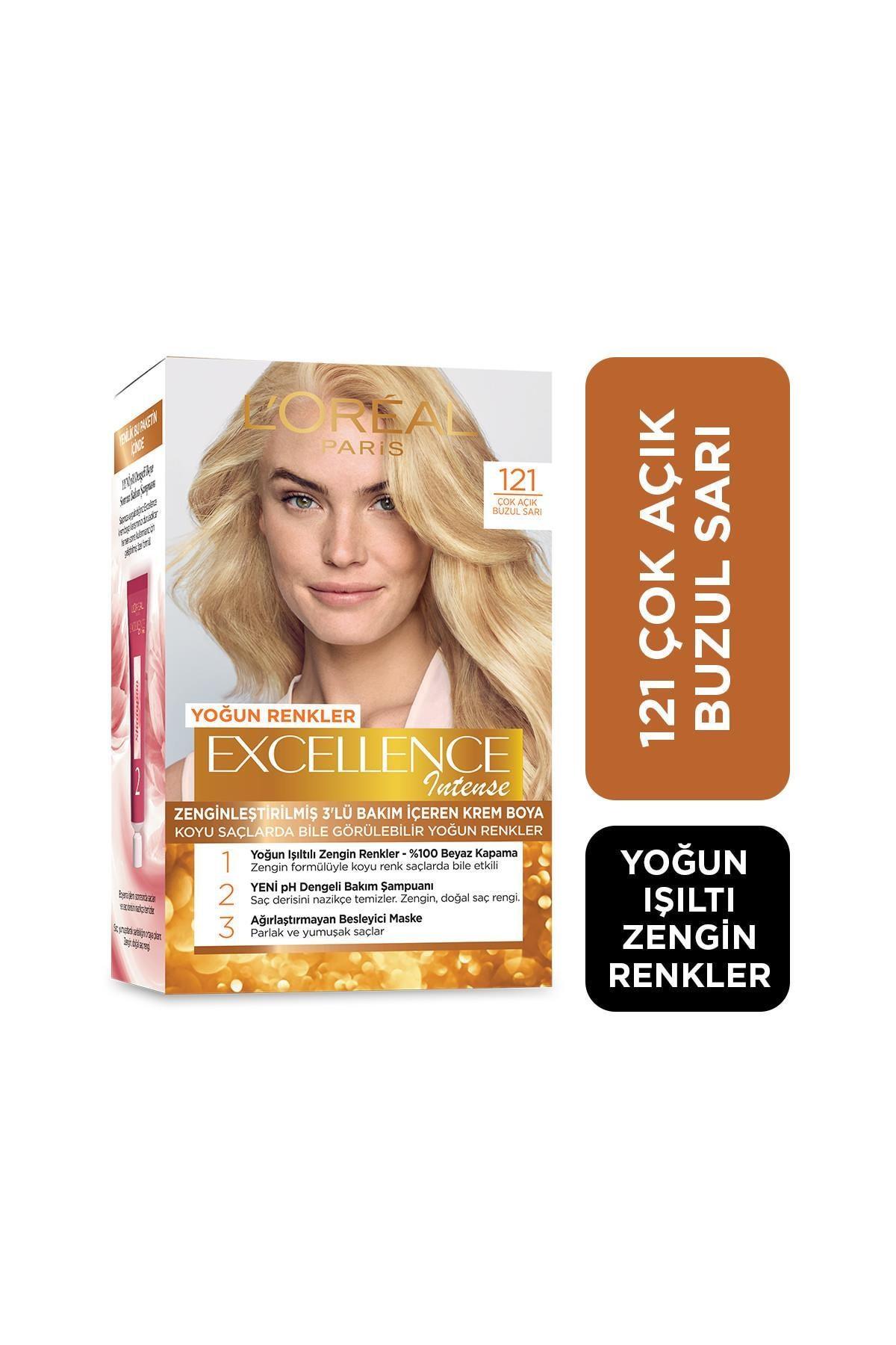 L'Oreal Paris Saç Boyası - Excellence Intense 121 Çok Açık Buzul Sarı 3600523165858 0