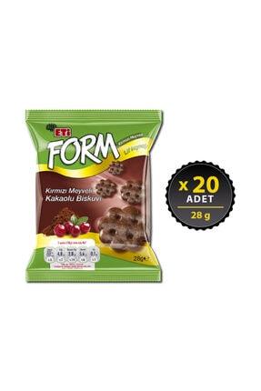 Eti Form Kırmızı Meyveli Kakaolu Bisküvi 28 G X 20 Adet 0