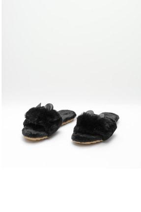OCT Shoes Siyah Kulaklı Peluş Terlik 1028 1