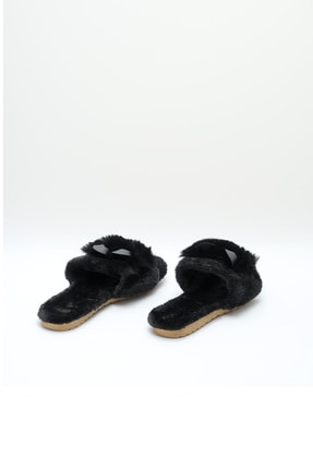 OCT Shoes Siyah Kulaklı Peluş Terlik 1028 3
