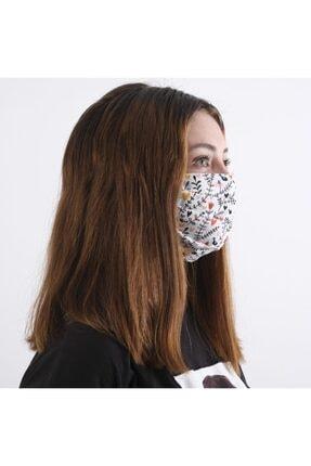 Dijimoda Yıkanabilir Boyun Askılı Pamuklu Kumaş Maske 1