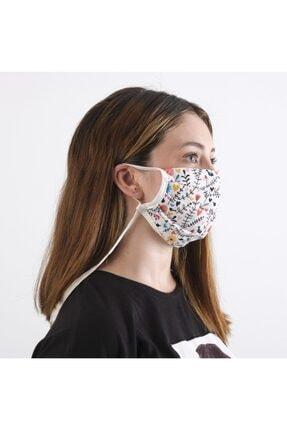 Dijimoda Yıkanabilir Boyun Askılı Pamuklu Kumaş Maske 2