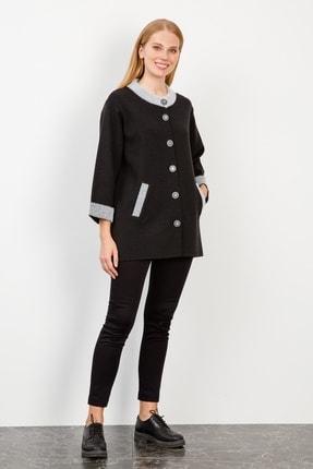 Picture of Kadın  Siyah Kapri Kol Triko Ceket