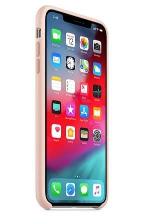 Ebotek Iphone Xs Max Kılıf Silikon Içi Kadife Lansman Toz Pembe 1