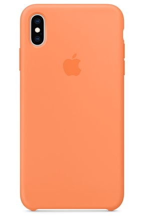 Ebotek Iphone Xs Max Kılıf Silikon Içi Kadife Lansman Papaya 0
