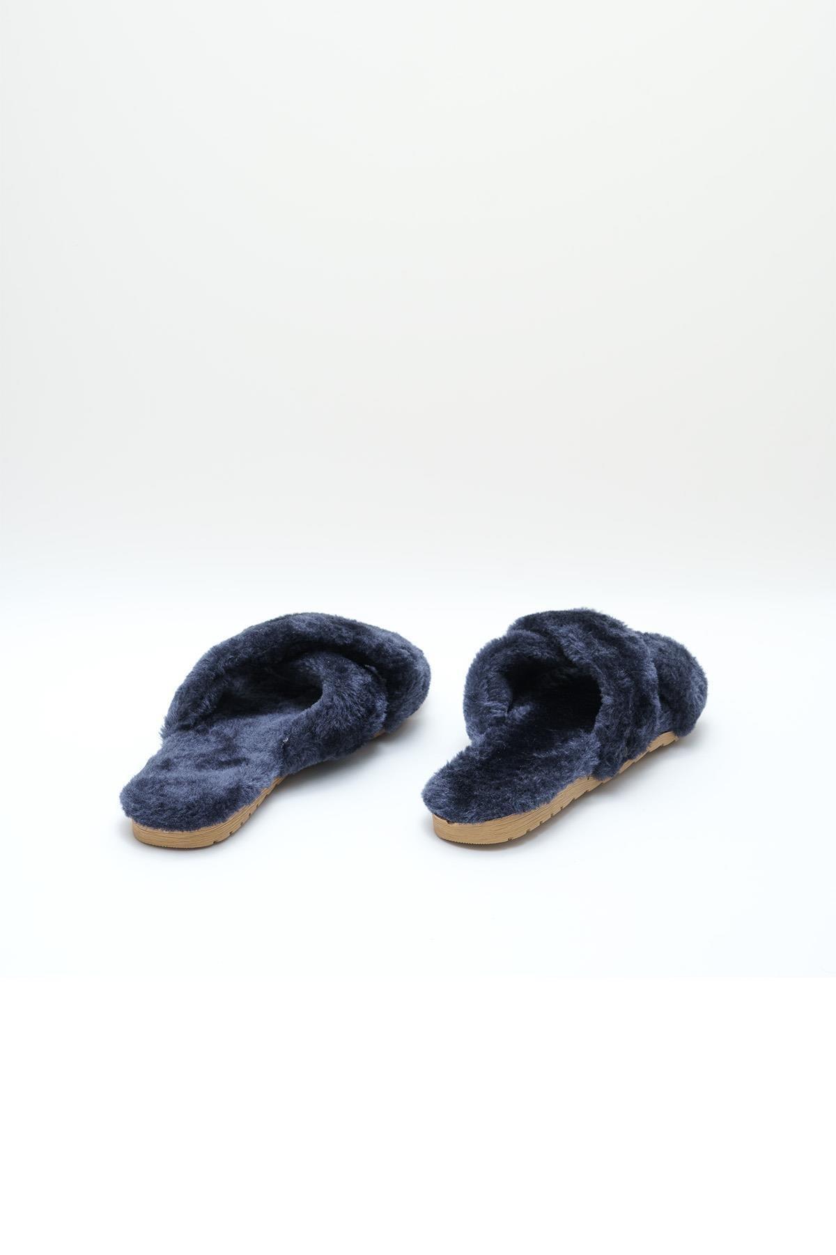 OCT Shoes Lacivert Kadın Terlik TS1026 3
