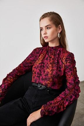 TRENDYOLMİLLA Çok Renkli Kol Detaylı Çiçek Desenli Bluz TWOAW20BZ0763 3