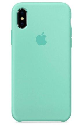 Ebotek Iphone Xs Max Kılıf Silikon Içi Kadife Lansman Turkuaz 0