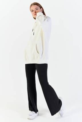 Addax Kadın Ekru Kapüşonlu Sweatshirt  S8641 0