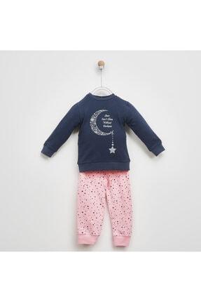 Panço Kız Çocuk Pembe Baskılı Pijama Takımı 2021gk39006 0
