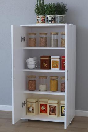 Remaks 110 cm 2 Kapaklı Çok Amaçlı Mutfak Dolabı - Beyaz 1